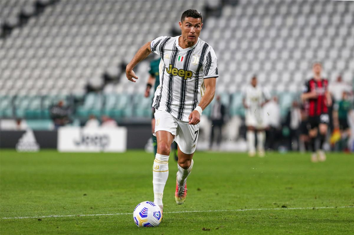Juventus star Ronaldo playing in front of empty stands earlier this year / Shutterstock/Medialys Images