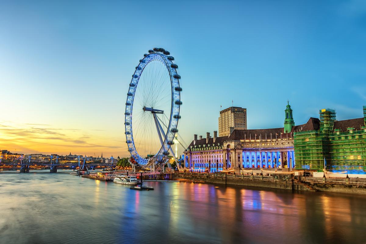 Grant Leisure's past projects include providing a feasibility analysis and operating strategy for The London Eye / Shutterstock/Lukasz Pajor
