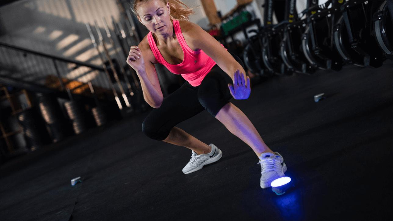 The interactive training aid develops speed and strength using visual cues / BlazePod
