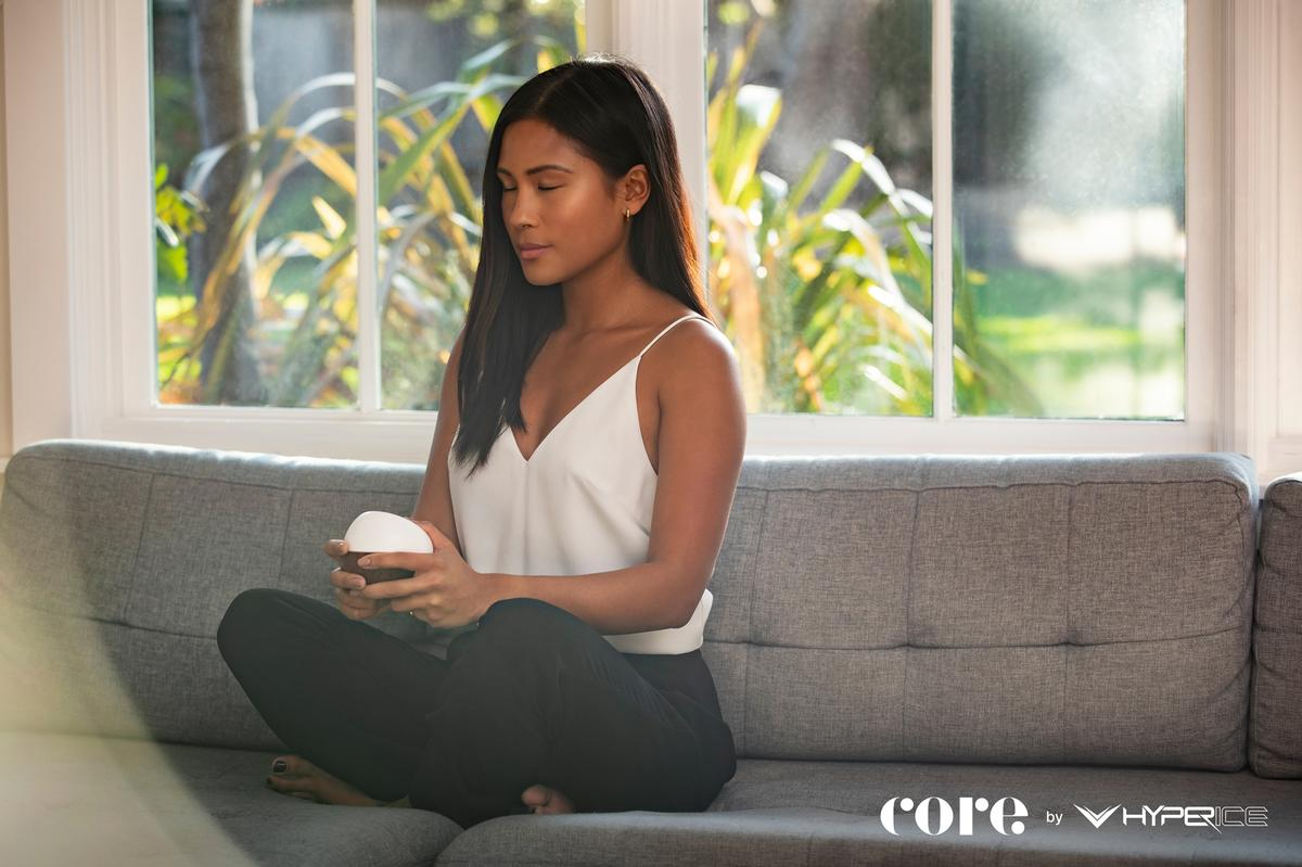 Core provides a meditation training device that uses haptics and biofeedback / Hyperice