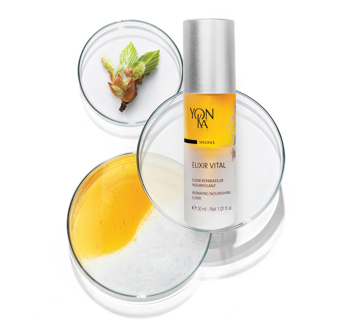 The serum is completed with Yon-Ka Quintessence, the brand's signature blend of geranium, lavender, rosemary, cypress and thyme