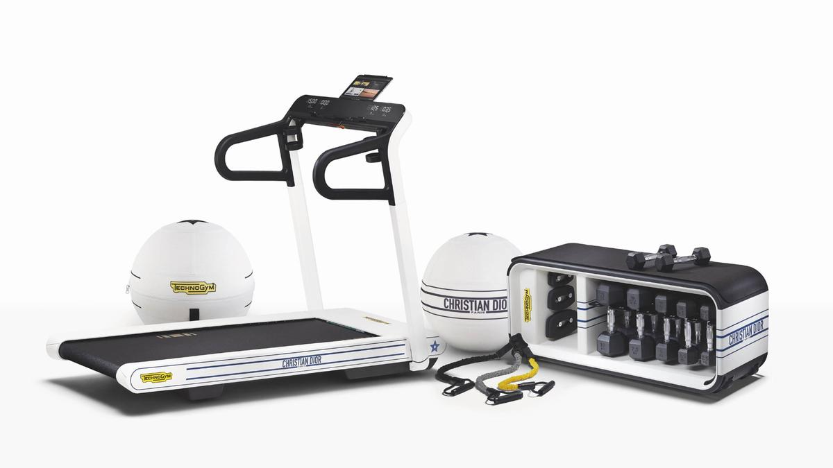 The series includes three products – a treadmill, a multifunction bench and a wellness ball / Technogym/Dior