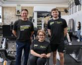Nigel Huddleston (left) joined Team GB's gold-winning diver Matty Lee (right) and ukactive chair Tanni Grey-Thompson (centre) at Jubilee Hall Gym / ukactive