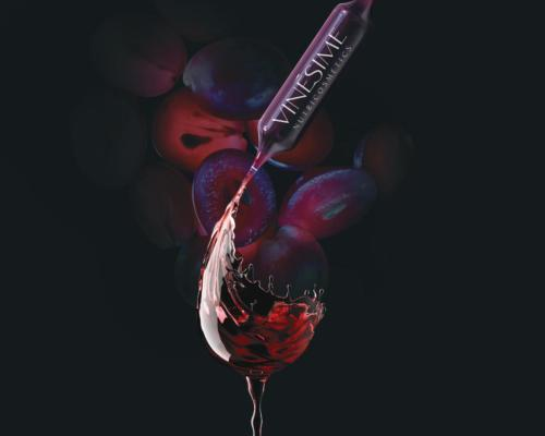 According to Vinésime, the grape-derived ingredients are extremely rich in polyphenols