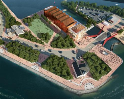Situated on the water's edge, approximately 90 per cent of the Museum's ground floor will be transparent to maintain a view of the dockside / Scott Brownrigg