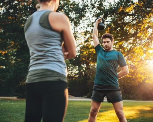 Personal training can continue during the latest lockdown, as long as it is undertaken one-on-one in a public, outdoor setting and social distancing measures are in place / Shutterstock.com/Jacob Lund