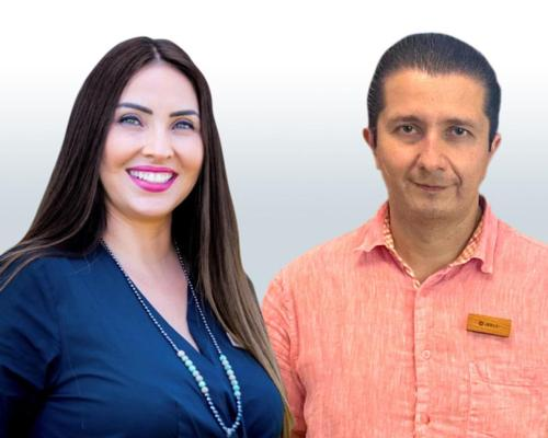 Rosalba Velázquez Becerra (L) has been appointed by Chablé Maroma and Jesús Segundo Rangel (R) was selected for Chablé Yucatán