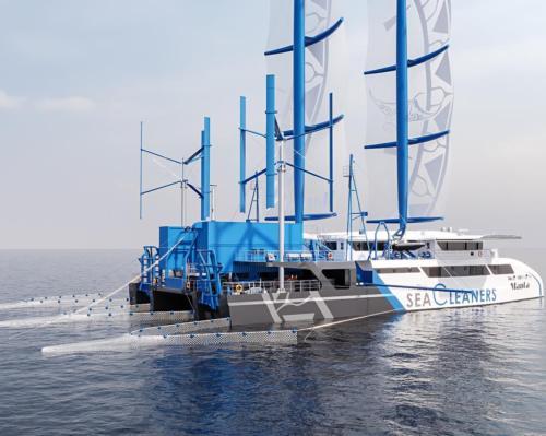Thalgo sponsors pioneering ocean-cleaning ship powered by renewable energy