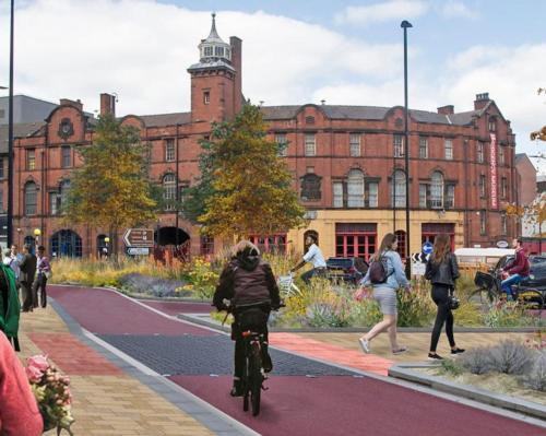 As well as segregated lanes for cycling, detailed plans feature a continuous footpath through a large part of the city / Sheffield City Council