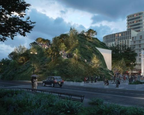 The 25m-tall attraction will offer views over the surrounding areas / MVRDV 2021