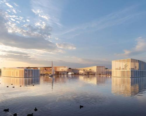 Baca Architects submits scheme for floating eco-wellness sanctuary and spa @Baca_Architects #design #sustainability #watersidewellness #bluespaces #development #UKspa #wellness