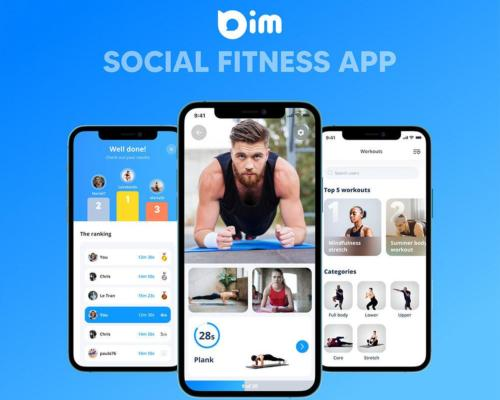 A new at-home fitness app will enable friends, communities, and coaches to remotely work out  together using live video links.