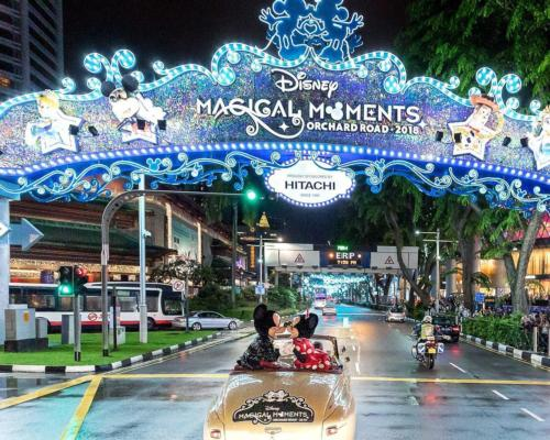 Disney created a 'Magical Moments' pop-up attraction in Singapore during Christmas 2018