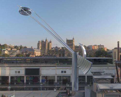 Passengers will be lifted up to 69m where they can enjoy 360-degree views / The Arc