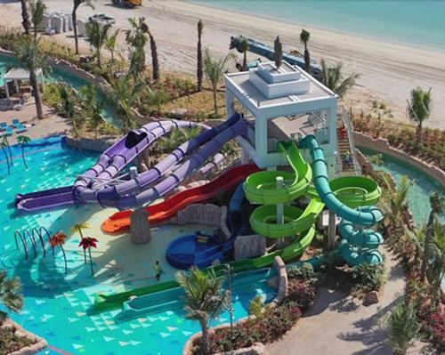 The new KidzAdventure Tower was designed and supplied by water ride specialist ProSlide