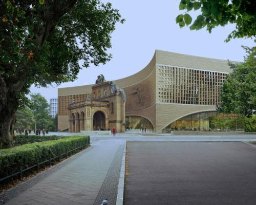 The Exile Museum will incorporate the ruins of the Anhalter Bahnhof railway station / Exile Museum