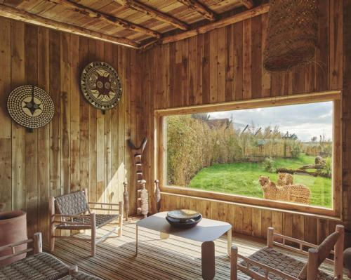 The two single-story, detached cheetah lodges sleep up to six guest / West Midlands Safari Park
