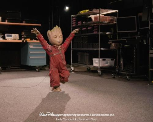 Disney Imagineering has created a prototype robot, in form of the character Groot from the Marvel universe
