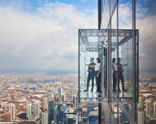 SOM, Thinc Design, and Chicago Scenic Studios have created the Skydeck at Willis Tower, Chicago