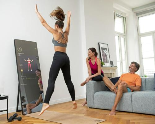 Valerie Bures, co-creator of Mrs Sporty, brings Vaha family fitness mirror to the UK
