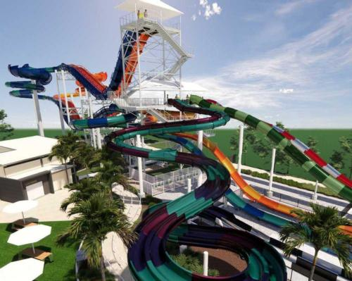 More than 23m tall, the Kaboom! combines three rides in one