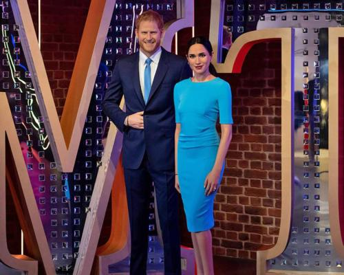 The waxworks of Prince Harry and Meghan have been relocated to a brand new Hollywood 'Awards Party' zone