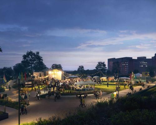 Called Mayfield Park, the new urban green space has been designed by landscape architects Studio Egret West / Studio Egret West/Mayfield Park