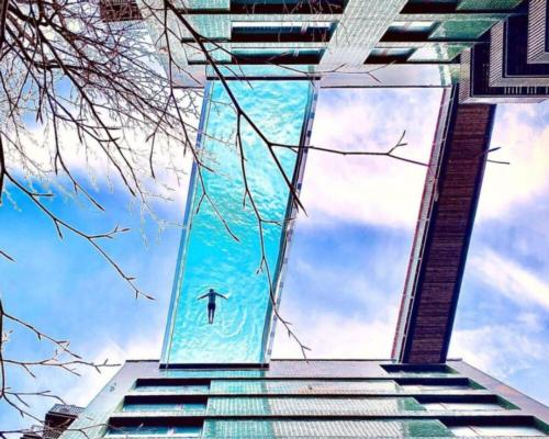 Hal Architects-designed Sky Pool opens in London's Embassy Gardens