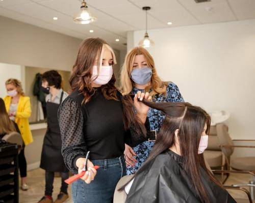 The not-for-profit relies on funding and money raised through the salons to fund its training and services
