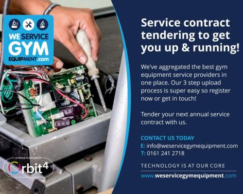 WeServiceGymEquipment is the first of its kind to facilitate the tendering process for annual service contracts within the fitness equipment space