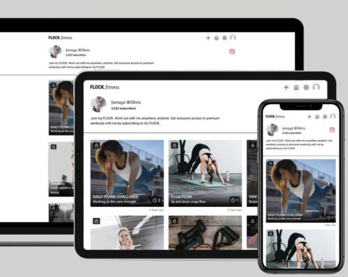 Flock.fitness allows coaches and instructors to leverage the content they create