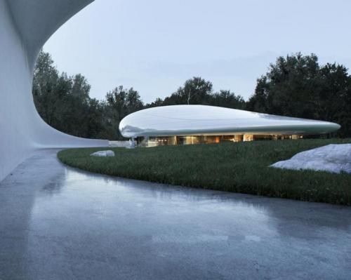 The Aranya Cloud Center has been designed by MAD Architects / MAD Architects