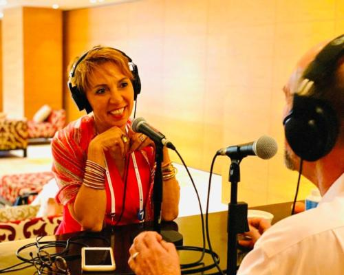 Kim Marshall (above) has been hosting the GWS podcast since its official launch in 2019