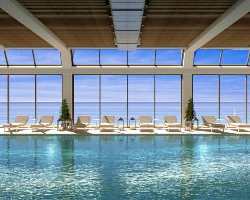 The saltwater pool is pumped directly from the North Atlantic ocean and is enriched with minerals and trace elements including salts / Alonso Designs