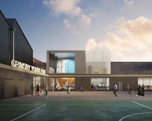 Facilities at the 5,440sq m Grimsby centre will include a fitness club and boxing gym / John Puttick Associates