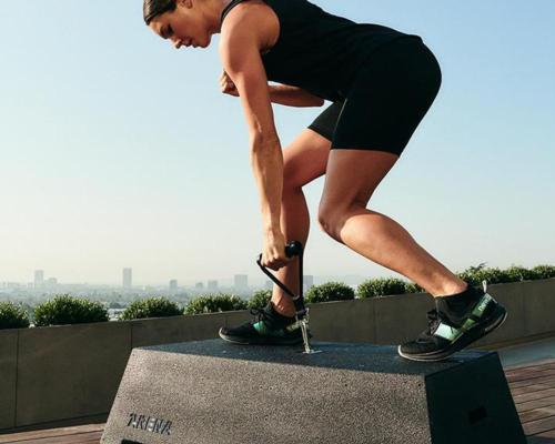 The robotic fitness platform is capable of generating more than 200 (91kg) pounds of resistance