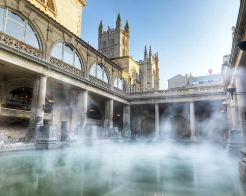 The city of Bath in South West England was originally founded by the Romans who used the natural hot springs as a thermal spa