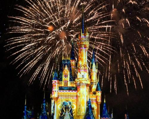 The greeting message to its famous evening firework show no longer references gender in any way