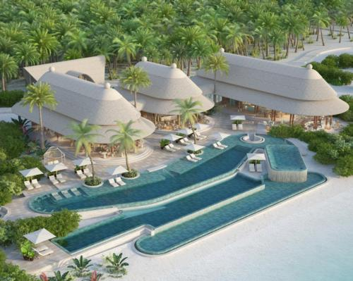 The beating heart of Joali Being will be its 39-treatment-room spa – named Areka – offering scientific therapies, diagnostic services, educational programmes and specialised therapeutic and alternative healing treatments