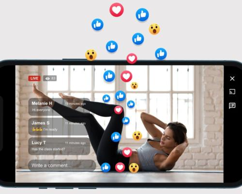 Emoji storms give members the opportunity to interact during workouts without having to type