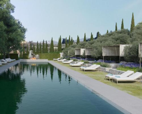 Upon completion, the Renaissance-era destination will be reborn as an 82-room hotel set among lush surroundings