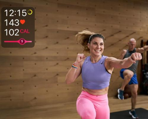 Users will be able to see friends in their chat, start a Group Workout from a group message thread or FaceTime call and see their workout stats / Apple