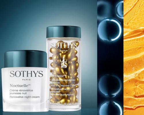 Sothys' Noctuelle night care line nourishes and renews the skin night after night