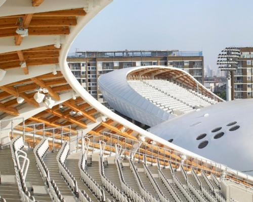 The stands, designed in partnership with structural engineers Buro Happold, are the tallest at the venue / WilkinsonEyre