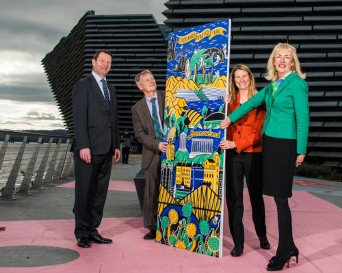 The trail was launched by Tourism Minister Ivan McKee (second from left) and VisitScotland