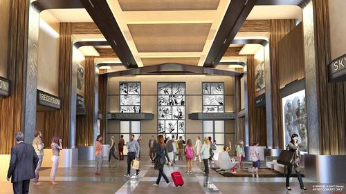 The hotel will receive its own Marvel makeover