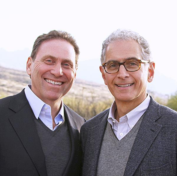 Steven Rudnitsky, left, Miraval president and CEO, and Mark Hoplamazian, Hyatt president and CEO, plan to grow the Miraval brand