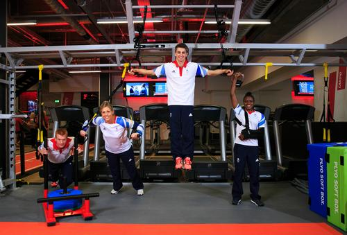Olympic stars were put through their paces at the new Bishopsgate site