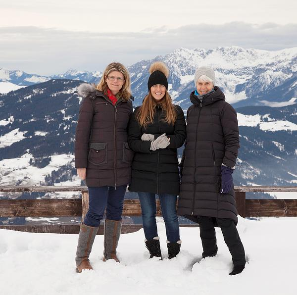 The Spa Business team sampling Kitzbühel's mountain air with a local tourist guide (left)