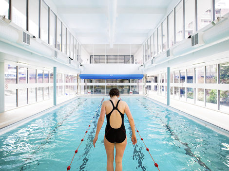 Residents of the Golden Lane Estate can use the leisure centre's facilities for a reduced rate